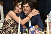 Delfina Blaquier and Nacho Figueras attend the Rachel Zoe Collection Summer Dinner At Moby's East Hampton With FIJI Water, Tanqueray, And AUrate on August 01, 2019 in East Hampton, New York.