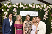 Nacho Figueras, Christie Brinkley, Delfina Blaquier, Rachel Zoe and Rodger Berman attend the Rachel Zoe Collection Summer Dinner at Moby's East Hampton with FIJI Water, Tanqueray, and AUrate on August 01, 2019 in East Hampton, New York.