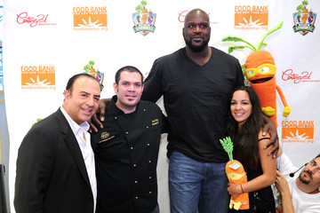 Radha Agrawal Shaquille O'Neal, White House Executive Chef Sam Kass And Russian Tea Room Executive Chef Marc Taxiera At The Event To Kick-Off Century 21 Department Store's Partnership With Super Sprowtz And Food Bank For New York City To Promote Healthy Eating