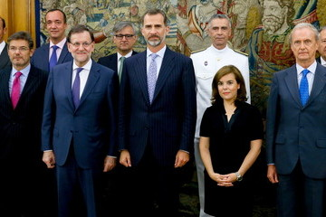 Rafael Catala King Felipe VI of Spain Presides Over the Meeting of the National Security Council