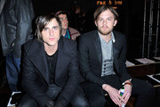 Bassist Jared Followill and musician Caleb Followill of Kings of Leon attend the Rag & Bone - Presentation Fall 2010 during Mercedes-Benz Fashion Week on February 12, 2010 in New York City.