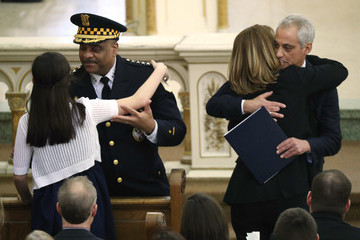 Rahm Emanuel City of Chicago Mourns Killing of Police Commander Paul Bauer