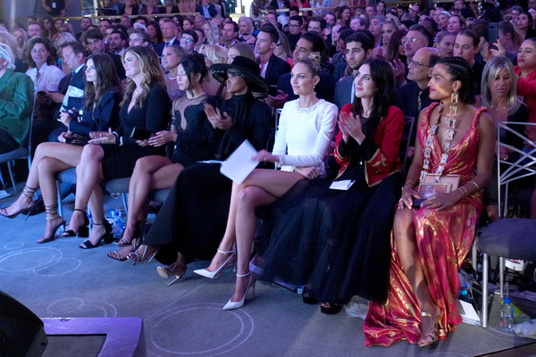 The Daily Front Row 7th Annual Fashion Media Awards [audience,people,event,crowd,fashion,performance,fashion design,ceremony,auditorium,convention,daily front row 7th annual fashion media awards,l-r,new york city,emily ratajkowski,halima aden,candice swanepoel,kathy ireland,raissa gerona,indya moore,zoey grossman]