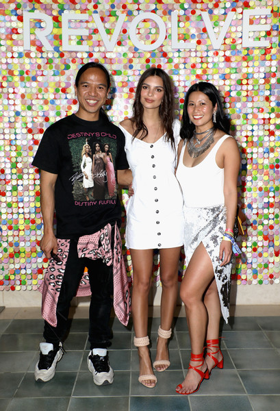 #REVOLVEfestival Day 1 [fashion,event,footwear,party,leisure,fashion design,l-r,la quinta,california,raissa gerona,emily ratajkowski,michael mente]