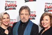 (L-R) Chelsea Hamill, Mark Hamill and Marilou York attend the Rakuten TV EMPIRE Awards 2018 at The Roundhouse on March 18, 2018 in London, England.