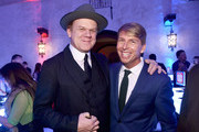 """Actors John C. Reilly (L) and Jack McBrayer attend the World Premiere of Disney's """"RALPH BREAKS THE INTERNET"""" at the El Capitan Theatre on November 5, 2018 in Hollywood, California."""