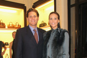 David Wolkoff (L) and Stephanie Winston Wolkoff attend Ralph Lauren Presents Exclusive Screening Of Hitchcock's To Catch A Thief Celebrating The Princess Grace Foundation at Ralph Lauren Women's Store on October 28, 2013 in New York City.