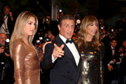 """(L-R) Sistine Rose Stallone, Sylvester Stallone and Jennifer Flavin attend the screening of """"Rambo - First Blood"""" during the 72nd annual Cannes Film Festival on May 24, 2019 in Cannes, France."""