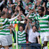Moussa Dembele Photos - Moussa Dembele of Celtic celebrates after scoring his sides third goal with his team mates during the Scottish Cup Semi Final match between Rangers and Celtic at Hampden Park on April 15, 2018 in Glasgow, Scotland. - Rangers vs. Celtic - Scottish Cup Semi Final