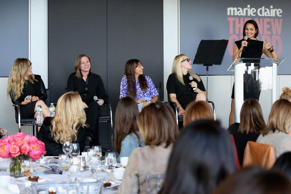 Marie Claire's 2nd Annual New Guard Lunch [event,fashion,community,lunch,adaptation,businessperson,management,convention,tourism,meeting,jennifer lee,marie claire,anne fulenwider,director,amanda de cadenet,rashida jones,cindy holland,original content,netflix,new guard lunch]