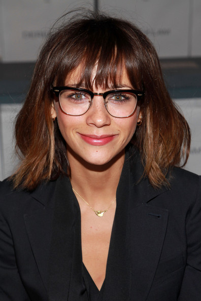 Black Frame Glasses Celebrities Wear : Rashida Jones #406544