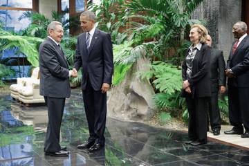 Raul Castro President Obama Meets With Cuban President Raul Castro in Havana