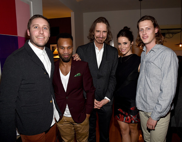 'Rectify' Dinner and Conversation  [rectify,conversation with the creators of sundance channel,event,suit,fun,formal wear,party,abigail spencer,jennifer howell,johnny ray gill,ray mckinnon,balmorhea,dinner,the art of elysium,host a dinner]