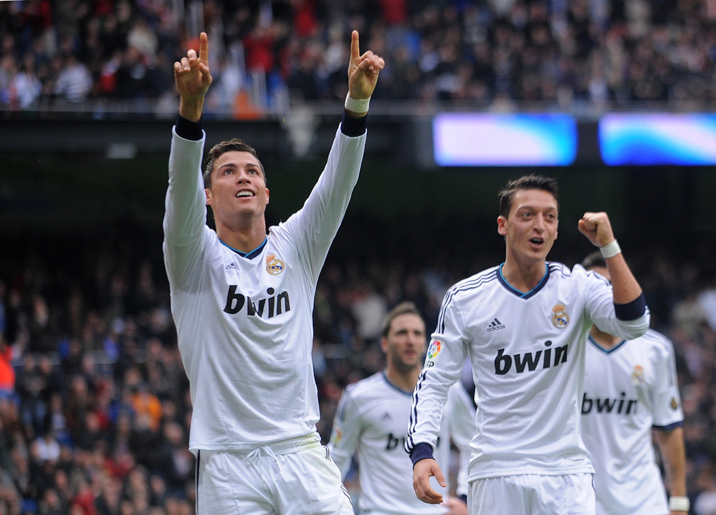 Real Madrid Vs Getafe Cf: Cristiano Ronaldo And Mesut Ozil Photos Photos