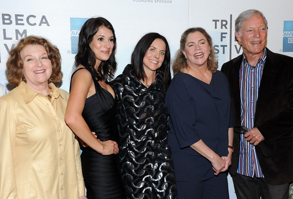 """Premiere Of """"The Perfect Family"""" At The 2011 Tribeca Film Festival [the perfect family,event,fashion,premiere,award,smile,richard chamberlain,anne renton,kathleen turner,angelique cabral,rebecca wackler,l-r,premiere,2011 tribeca film festival,premiere]"""
