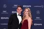 Laureus Academy Member Missy Franklin and Hayes Johnson arrives for the 2019 Laureus World Sports Awards on February 18, 2019 in Monaco, Monaco.