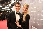 Laureus Academy Member Missy Franklin (R)  and Hayes Johnson attend the 2020 Laureus World Sports Awards at Verti Music Hall on February 17, 2020 in Berlin, Germany.
