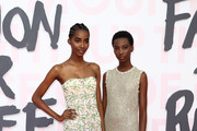 (L-R) Models Tami Williams and Shanniel Williams attend Fashion for Relief Cannes 2018 during the 71st annual Cannes Film Festival at Aeroport Cannes Mandelieu on May 13, 2018 in Cannes, France.