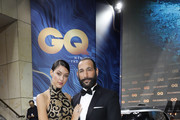 Rebecca Mir and Massimo Sinato arrive for the 20th GQ Men of the Year Award at Komische Oper on November 8, 2018 in Berlin, Germany.
