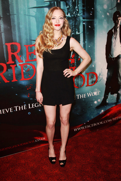 (UK TABLOID NEWSPAPERS OUT) Amanda Seyfried attends the European premiere of Red Riding Hood at The Vue Leicester Square on April 7, 2011 in London, England.
