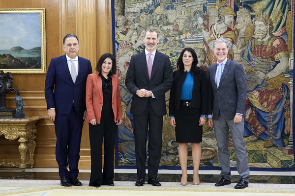 King Felipe Of Spain Meets CEO Of Netflix, Mr Reed Hastings