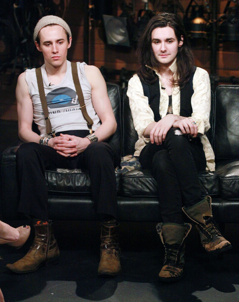 Reeve Carney & Zane Carney Visit Fuse [fashion,sitting,street fashion,long hair,reeve carney,zane carney,l-r,new york city,zane carney visit fuse,rock band,fuse studios,fuses top 20 countdown]