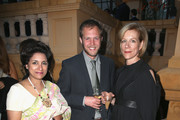 """Samia Zaman (L), a guest and Juliet Stevenson (R) attend the """"When World's Collide,"""" Voices For Refugees Gala at Villa Saint George on May 17, 2016 in Cannes, France.  (Photo by Luca Teuchmann/Getty Images for International Emerging Film Talent Association"""