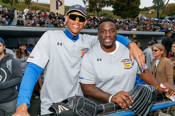 Reggie Miller Celebrities Attend Charity Softball Game To Benefit California Strong