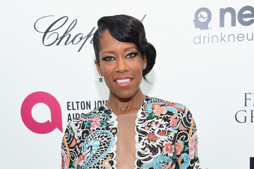 Regina King Arrivals at the Elton John AIDS Foundation Oscars Viewing Party — Part 3