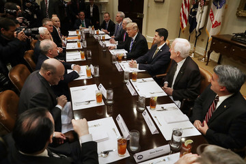 Reince Priebus President Trump Hosts Lunch With House And Senate Leadership At White House