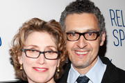 "Actors Katherine Borowitz and John Turturro attend the ""Relatively Speaking"" opening night after party at the Brooks Atkinson Theatre on October 20, 2011 in New York City."