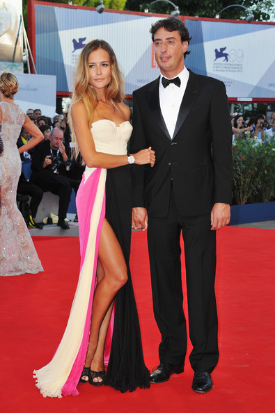 "Natalia Borges and Lorenzo Tonetti attend ""The Reluctant Fundamentalist"" Premiere And Opening Ceremony during the 69th Venice International Film Festival at Palazzo del Cinema on August 29, 2012 in Venice, Italy."