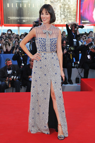 "Daniela Virgilio attends ""The Reluctant Fundamentalist"" Premiere And Opening Ceremony during the 69th Venice International Film Festival at Palazzo del Cinema on August 29, 2012 in Venice, Italy."
