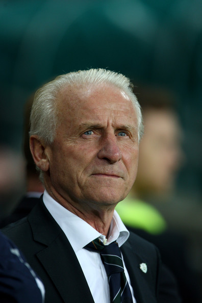 Giovanni Trapattoni Giovanni Trapattoni Manager of Republic of Ireland looks on during the FIFA 2010 World Cup European Qualifying match between the Republic of Ireland and Italy at Croke Park on October 10, 2009 in Dublin, Ireland.