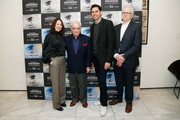 (L-R) Film Foundation executive director Margaret Bodde, director Martin Scorsese, MOMA chief curator of film Rajendra Roy and MOMA curator Dave Kehr attend the Republic Rediscovered screening presented by MOMA, the Film Foundation and Paramount at MOMA on February 3, 2018 in New York City.