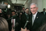 Rep. Daniel Webster (R-FL) talks to a reporters after leaving a House GOP candidates forum at the U.S. Capitol October 28, 2015 in Washington, DC. Endorsed by the far-right Freedom Caucus, Webster is the only congressman to challenge House Ways and Means Committee Chairman Paul Ryan (R-WI) for the speakership after Speaker of the House John Boehner (R-OH) announced his retirement.