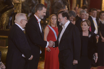 Reuven Rivlin Spanish Royals Host Official Dinner for Israel President