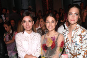 Nadine Warmuth, Anna Julia Kapfelsperger and Laura Berlin attend the Riani show during the Berlin Fashion Week Spring/Summer 2020 at ewerk on July 03, 2019 in Berlin, Germany.
