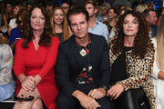 Natalia Woerner, Vincent De Paul and Christine Neubauer attend the Riani show during the Berlin Fashion Week Spring/Summer 2019 at ewerk on July 4, 2018 in Berlin, Germany.