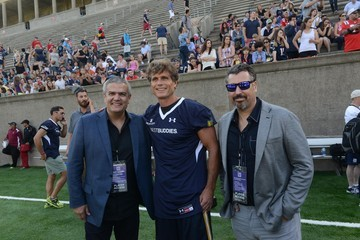 Ricardo Guadalupe Rick Delacroix Hublot Joins Tom Brady to Support Best Buddies Challenge Kick Off at Harvard Field In Boston