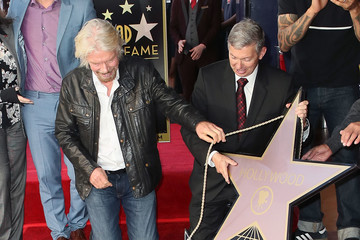 Richard Branson Sir Richard Branson Honored With Star On The Hollywood Walk Of Fame