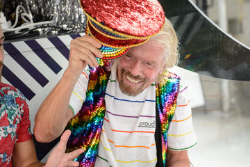 Richard Branson Sir Richard Branson Celebrates Pride And announcement Of LGBTQ+ Virgin Voyages Charter With Atlantis Events