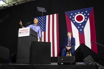 Richard Cordray Former President Obama Attends Rally In Cleveland For Ohio Gubernatorial Candidate Richard Cordray