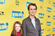 "Actor Ellar Coltrane (R) and Evelyn Coltrane attend the screening of ""Richard Linklater - Dream Is Destiny"" during the 2016 SXSW Music, Film + Interactive Festival at Paramount Theatre on March 12, 2016 in Austin, Texas."