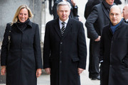 Klaus Wowereit (C), former Major of Berlin, arrives to attend the state memorial service for former German President Richard von Weizsaecker at the Dom cathedral on February 11, 2015 in Berlin, Germany. Von Weizsaecker was president of Germany from 1984 until 1994 and died in Berlin on January 31 at the age of 94.