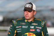 Ryan Newman, driver of the #31 Bass Pro Shops/Cabela's Chevrolet, walks on the grid during qualifying for the Monster Energy NASCAR Cup Series Federated Auto Parts 400 at Richmond Raceway on September 21, 2018 in Richmond, Virginia.