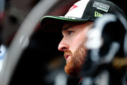 Austin Dillon, driver of the #3 Dow VORASURF Chevrolet, stands in the garage area during practice for the Monster Energy NASCAR Cup Series Federated Auto Parts 400 at Richmond Raceway on September 21, 2018 in Richmond, Virginia.