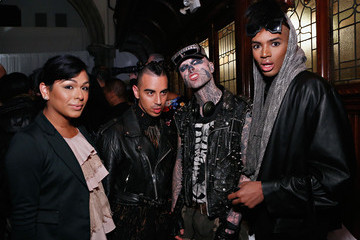 Rick Genest Mataano -Front Row - Fall 2013 Mercedes-Benz Fashion Week