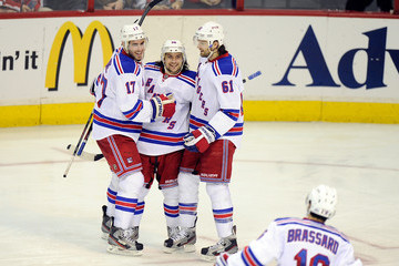 Rick Nash Mats Zuccarello New York Rangers v Washington Capitals