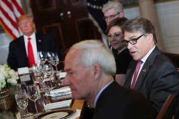 Rick Perry President Trump Hosts Governors For Dinner At The White House To Discuss Border Security And Safe Communities